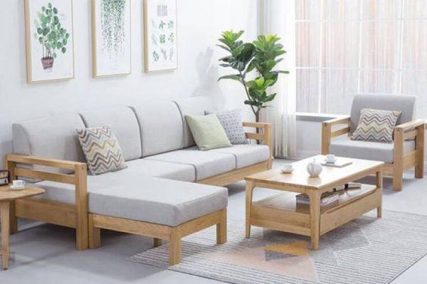 [Demo] Bàn trà sofa gỗ chân sắt kết hợp với kính hiện đại BA552.16096-7-1