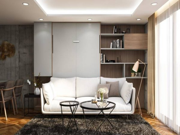Giường gấp thông minh kết hợp sofa cho phòng khách – White Flow