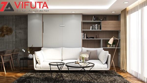 Giường gấp thông minh kết hợp sofa cho phòng khách - White Flow