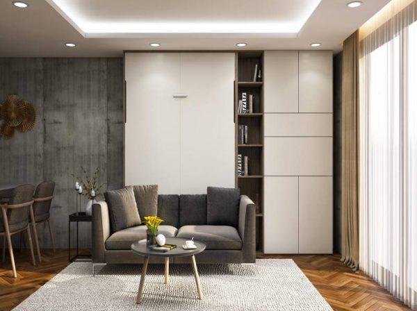 Giường gỗ thông minh gấp gọn kết hợp Sofa Gray Stone