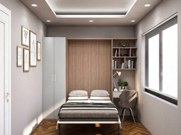 Giường ngủ thông minh kết hợp bàn học và giá sách – Riky