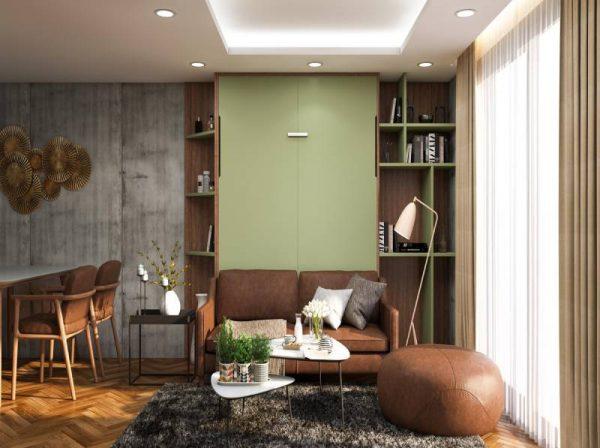 Giường sofa gỗ gấp gọn thông minh tiết kiệm diện tích Choco Sweet