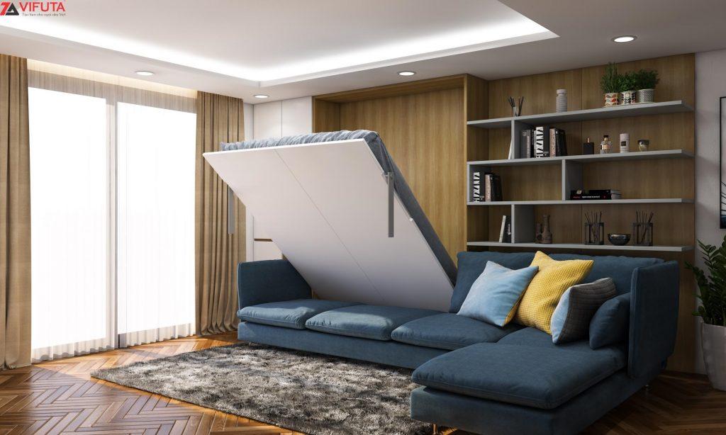 Giường thông minh kèm sofa kết hợp tủ chứa đồ Deep Ocean