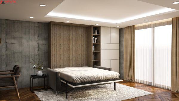 giường gấp gọn kết hợp Sofa Gray Stone