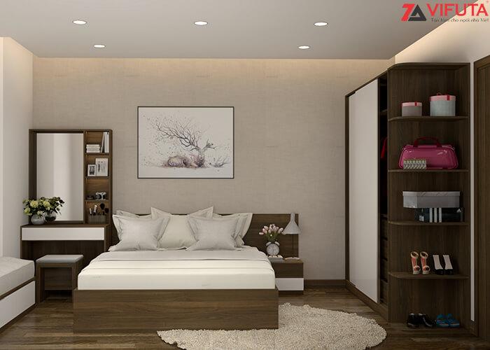Bố trí gương trong phòng ngủ nhỏ để tạo cảm giác không gian được cơi nới, mở rộng