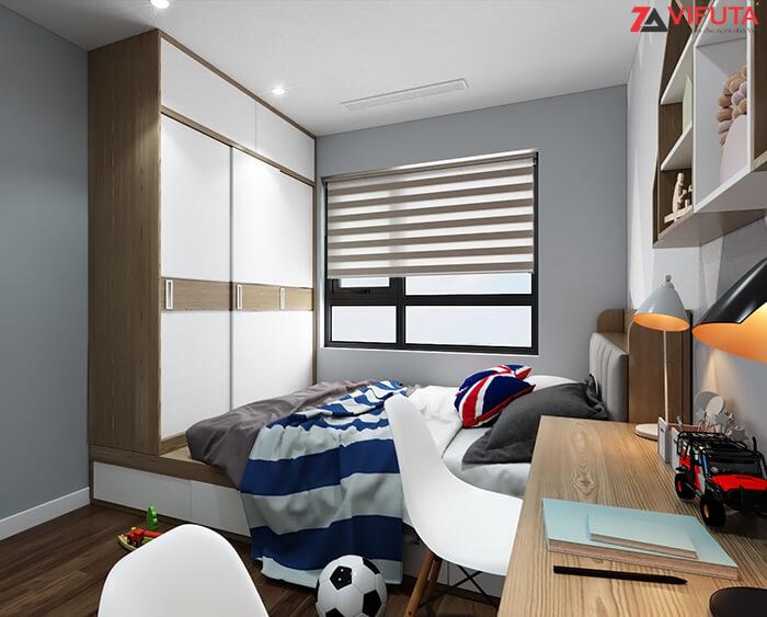 Phòng ngủ nhỏ luôn thoáng đãng, dễ chịu khi có nguồn sáng tự nhiên chiếu vào
