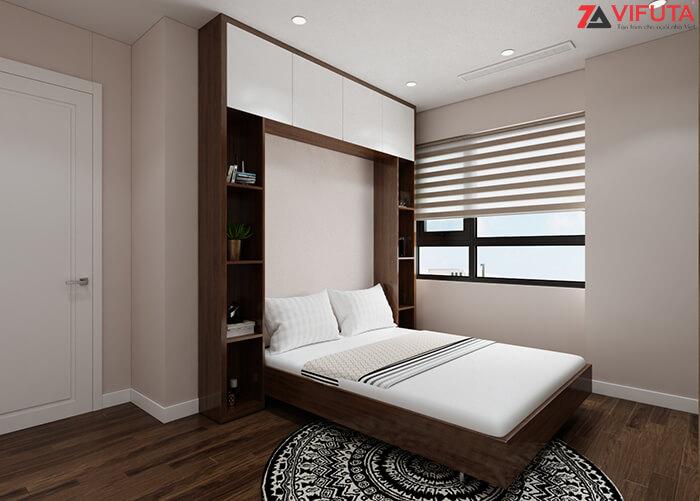 Giường ngủ gắn tường thông minh dạng dọc cho phòng ngủ trần cao
