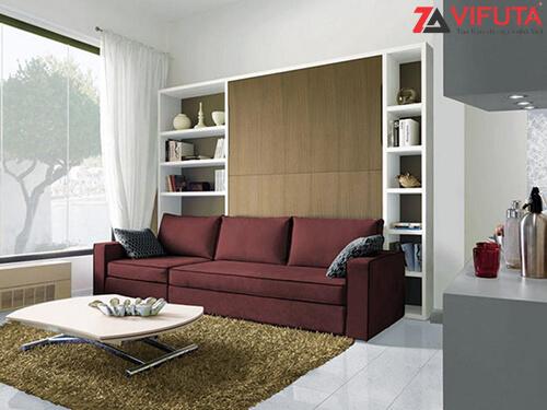 Thiết kế đồng bộ của bộ nội thất đa năng mang đến sự đồng bộ cho căn phòng