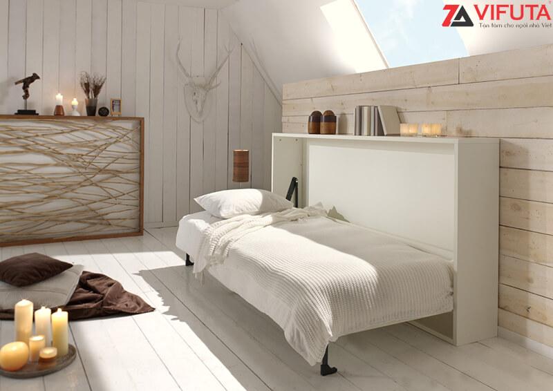 Giường gắn tường là giải pháp tối ưu diện tích mặt sàn cho các phòng ngủ nhỏ