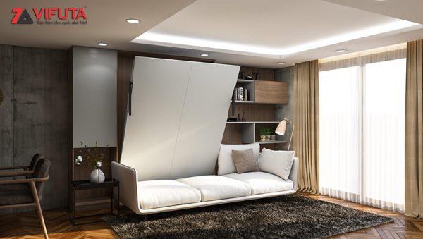 [Video] Giường gấp kèm sofa thông minh cho phòng khách bộ White Flow – Vifuta.vn