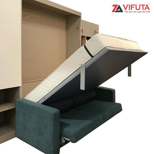 Hệ thống trợ lực giúp việc nâng hạ giường vô cùng dễ dàng