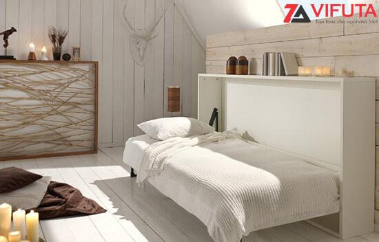 Giường ngủ gấp sát vào tường H1200 – 333.H120MO