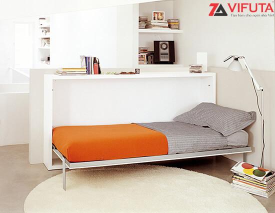 Giường ngủ gắn tường thông minh H1500 – 333.H150MOcó hệ thống pittong nâng hạ nhẹ nhàng, êm ái