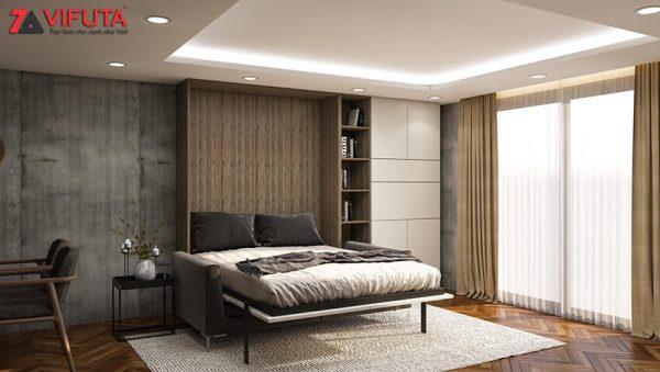 [Video] Giường gỗ thông minh kết hợp sofa gấp gọn bộ Gray Stone – Vifuta.vn