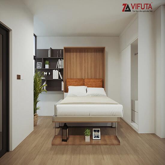 Giường ngủ gắn tường dọc thông minh W1200 – 333.V120MO