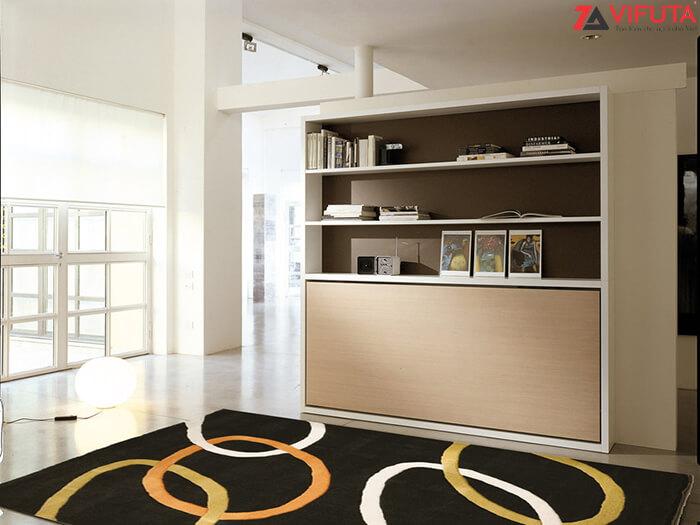 Giường kèm bàn học và tủ sách H1500 – 333.H150DO