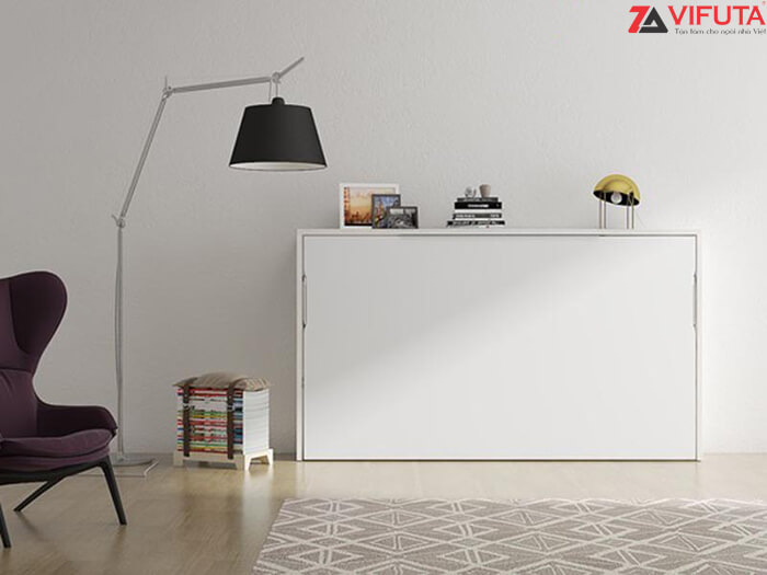 Giường gắn tường là giải pháp giải phóng diện tích mặt sàn và không gian tuyệt vời cho các phòng học tập làm việc nhỏ