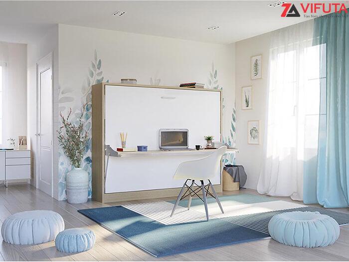 Thiết kế năng hạ linh hoạt của nội thất thông minh giúp bạn vệ sinh phòng ốc dễ dàng hơn