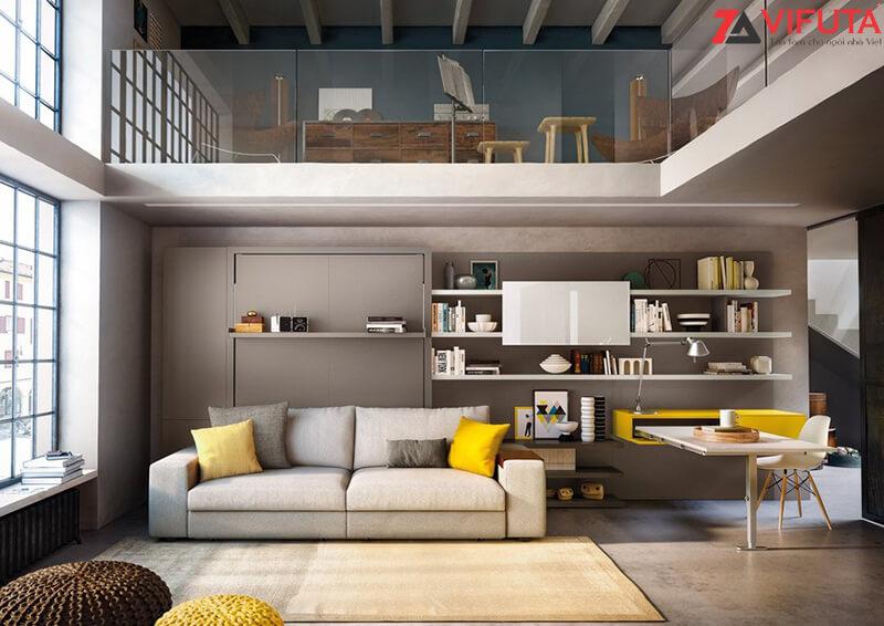 Chỉ với một đồ nội thất là không gian phòng khách đã trở nên tiện nghi, hiện đại