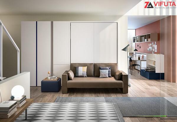 Bộ giường kèm sofa sang trọng, thanh lịch cho phòng khách rộng rãi