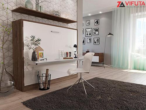 Giường kèm bàn học giúp tối ưu không gian phòng ốc và mang đến cảm hứng học tập, làm việc mới