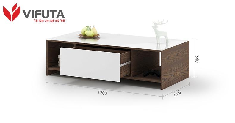 bàn trà gỗ công nghiệp đẹp hiện đại