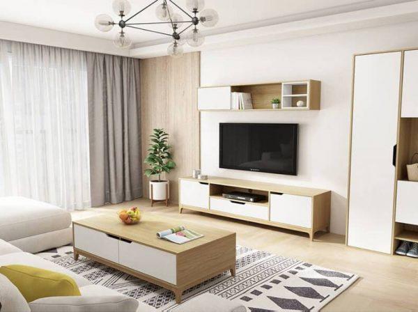Bàn trà sofa đẹp gỗ công nghiệp có ngăn kéo – 554.12280