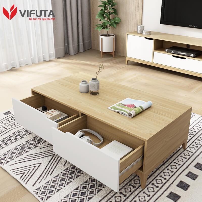 bàn trà sofa gỗ công nghiệp