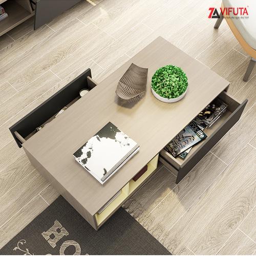 bàn trà sofa gỗ kết hợp chân sắt