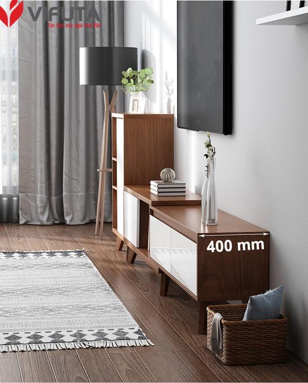 mẫu kệ tivi gỗ phòng khách đẹp hiện đại