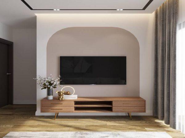 Kệ tivi gỗ phòng khách kiểu hiện đại sang trọng – 556.20203