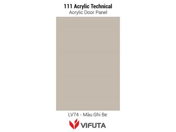 Cánh tủ bếp gỗ công nghiệp cao cấp 111Acrylic Tech – LV74
